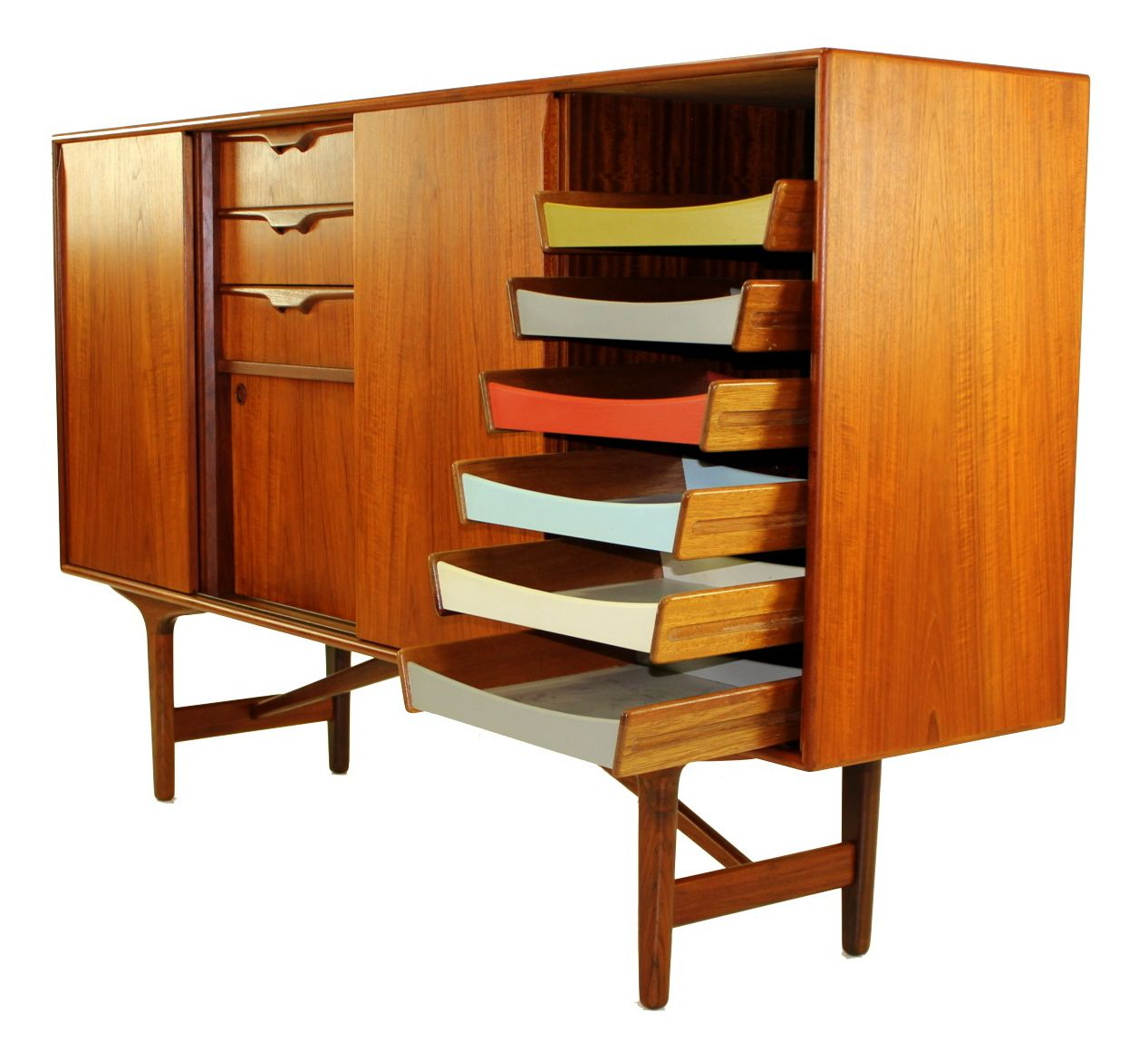 Mid Century Design Furniture: Impressive Danish Modern Teak Credenza By Borge Mogensen