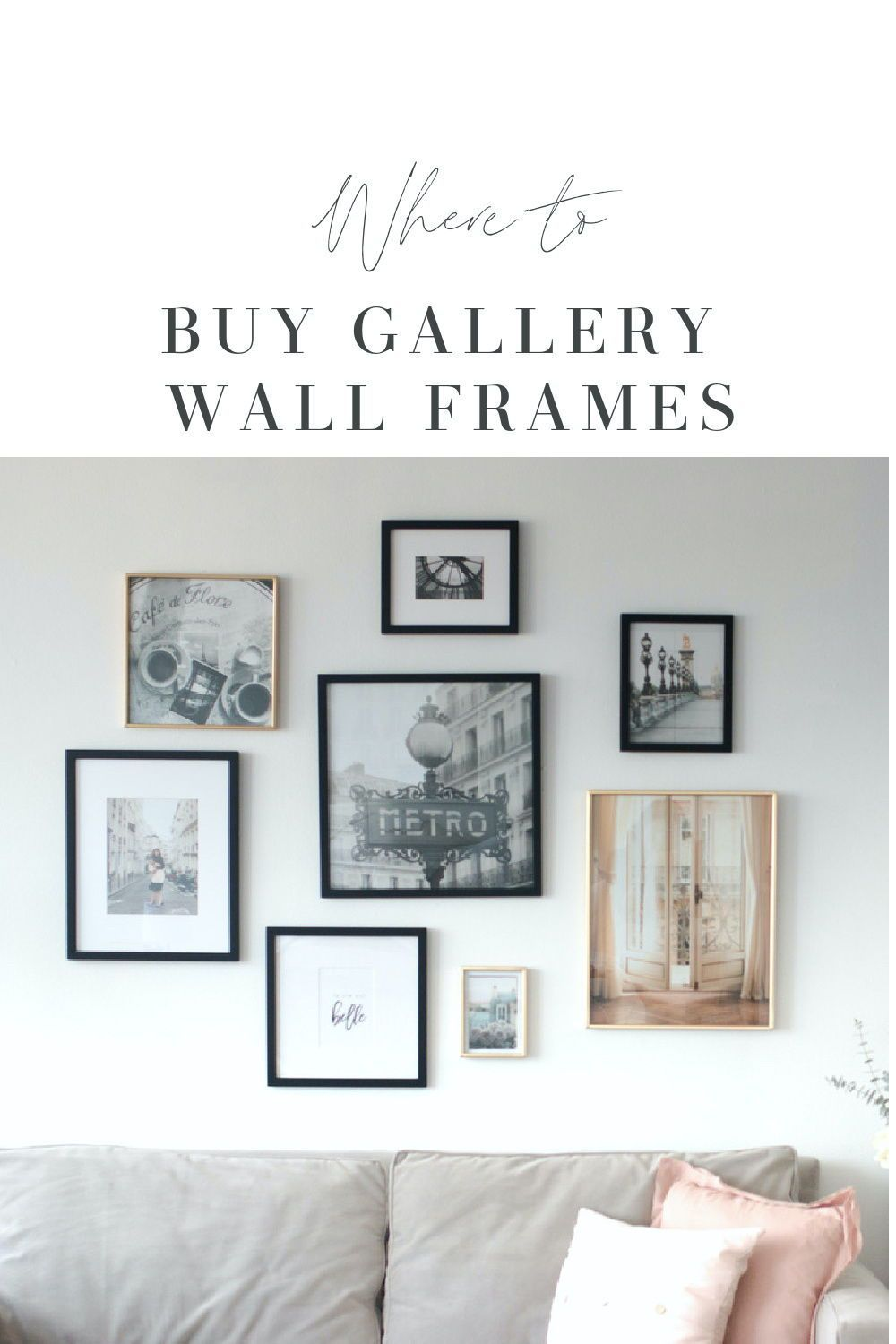 Where to Buy Gallery Frames Online #paris #parisphotography #gallerywall #homedecor #francophile #frenchhomedecor