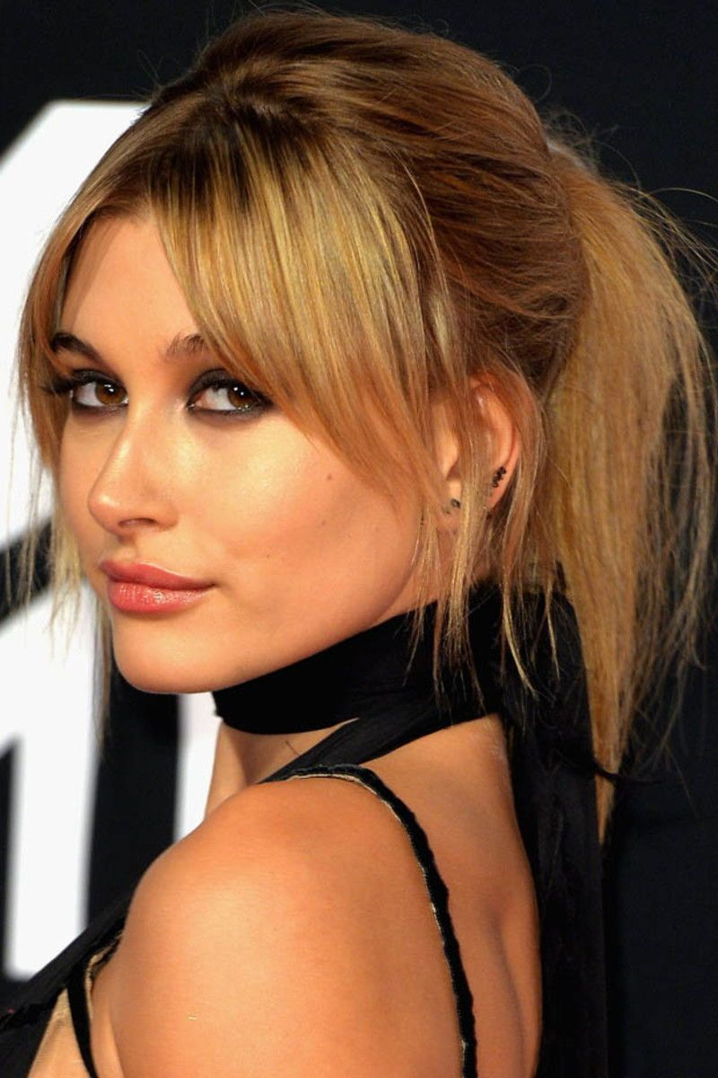 How To Style Side Swept Bangs Like 30 Of The Chicest Celebrities I Am Co Bangs With Medium Hair Medium Length Hair Styles Thick Hair Styles