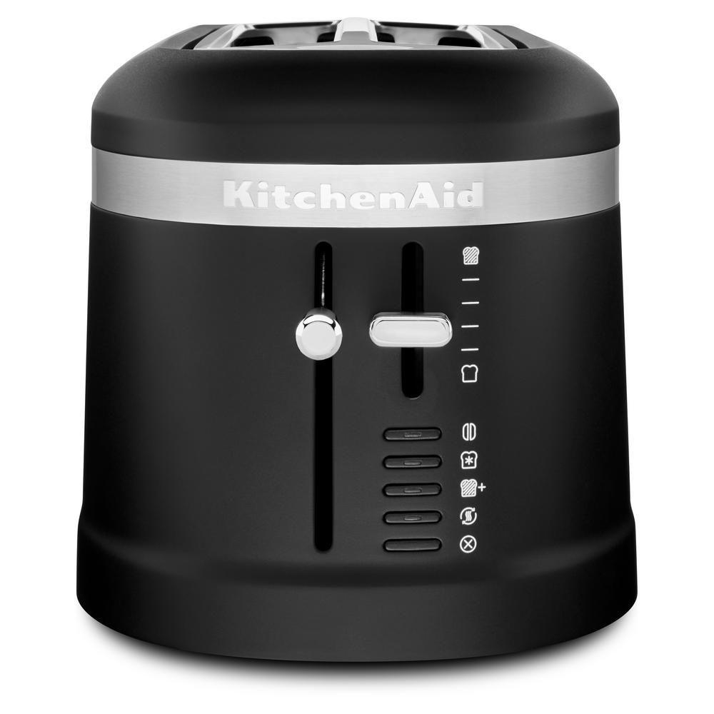 Kitchenaid 4slice black matte long slot toaster with high