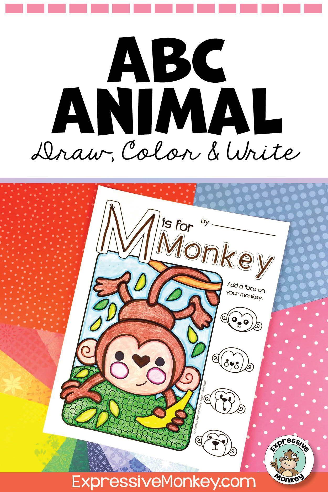 Abc Animal Draw Color Amp Write
