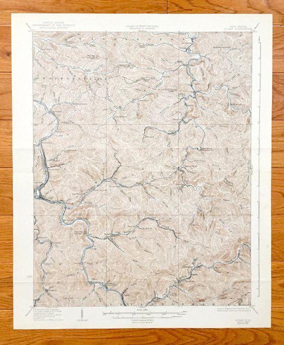Antique Logan, West Virginia 1928 US Geological Survey ...