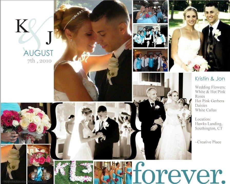 Wedding Flowers: @Hawks Landing White / Hot Pink Roses & Gerber Daisies! ~Creative Place