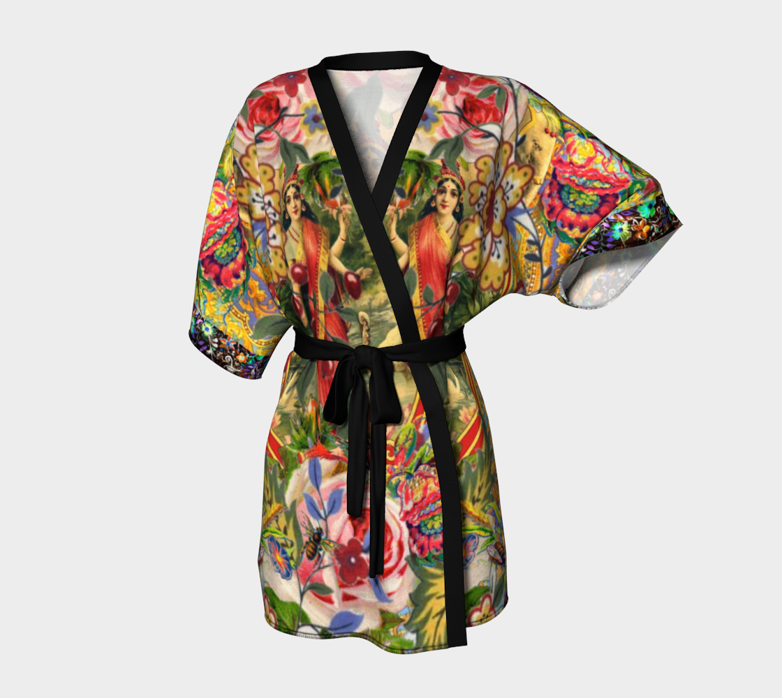 Bohemian Goddess Kimono by AtelierBaba. Great for luxurious lounging. In silky knit or chiffon. Lovely.