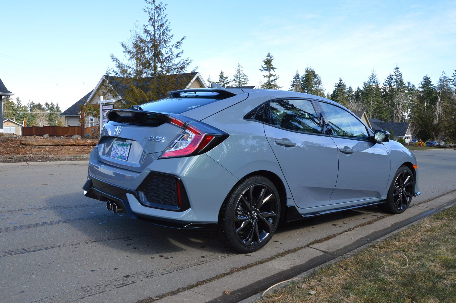 2018 Honda Civic Hatchback Sport 1 5 Turbo Sonic Gray Pearl Honda Civic Hatchback Honda Hatchback Civic Hatchback