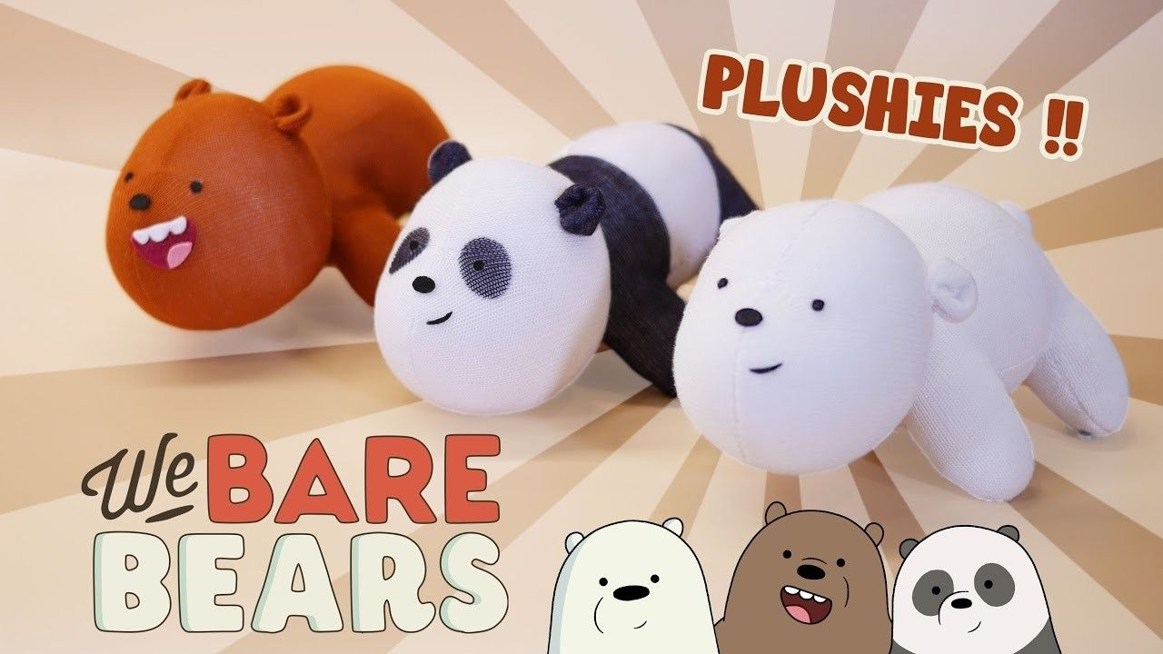 DIY We BARE BEARS Plushies!! (FREE Pattern) Cute Bear Sock Plush ...