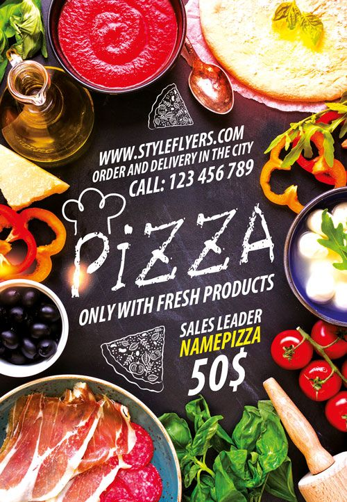 Pizza Flyer Template Psd For Restaurant Shop Promotion And