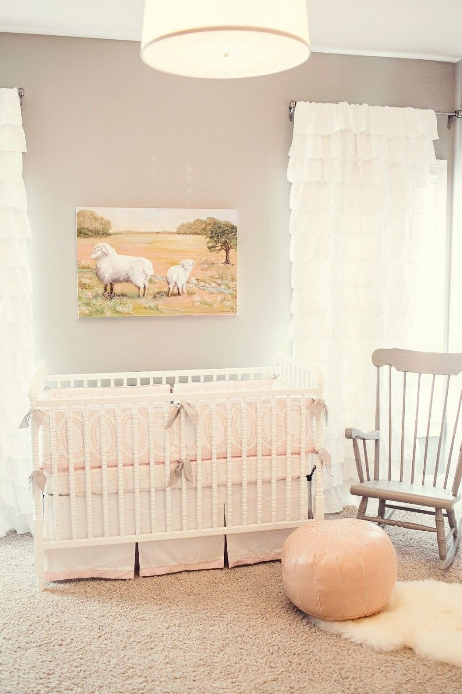 cute design ideas convertible furniture. Furniture,Cabin Fever Nursery Room Design With Convertible Davinci Jenny Lind Crib And Shag Solid White Rug Also Faux Silk Lined Curtain,Pretty Cute Ideas Furniture