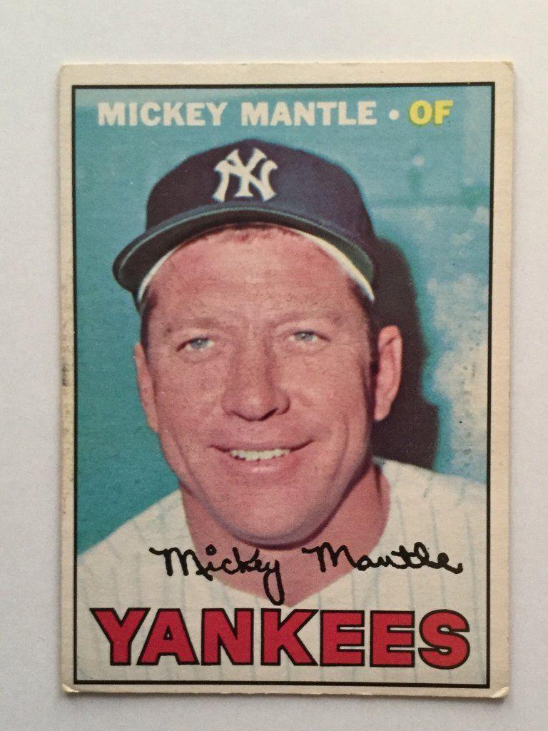 Mickey Mantle Rare Opc Baseball Card 1967 Baseball Cards As