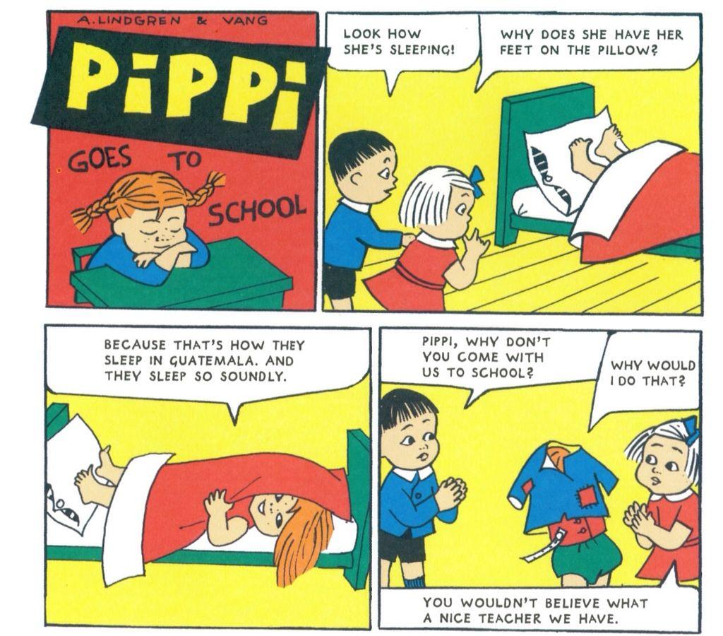Vintage Pippi Longstocking Comics By Astrid Lindgren And Ingrid