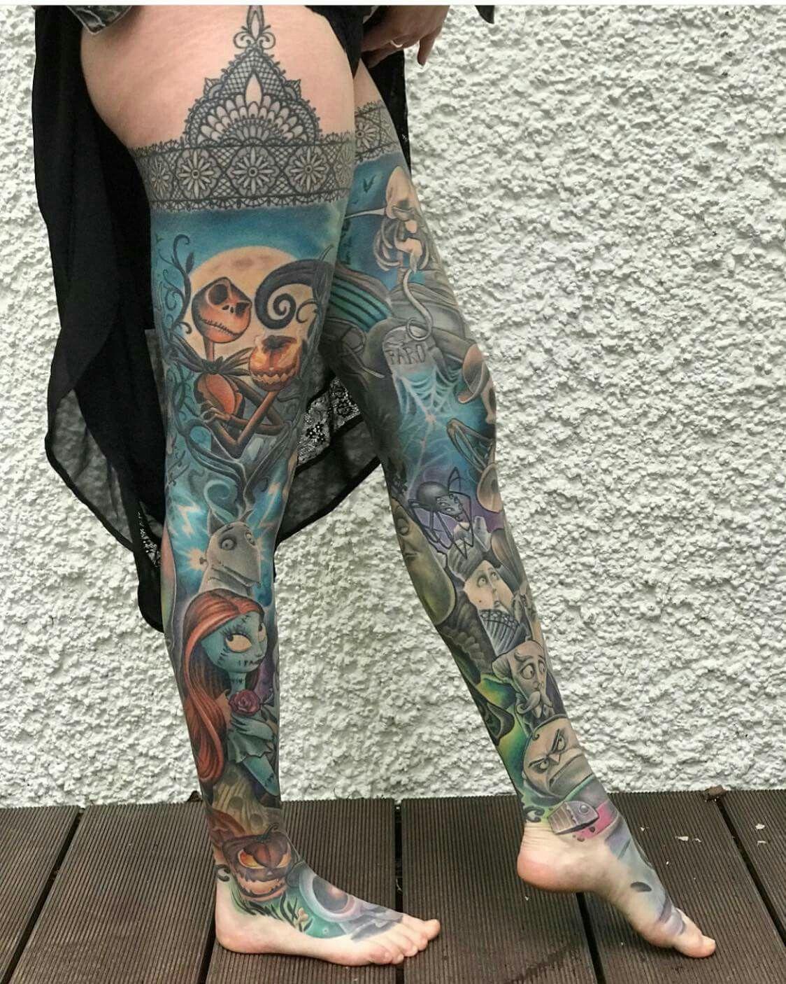 5d079b65f Dope Tattoos, Full Leg Tattoos, Leg Tattoos Women, Tattoos Motive, New  Tattoos