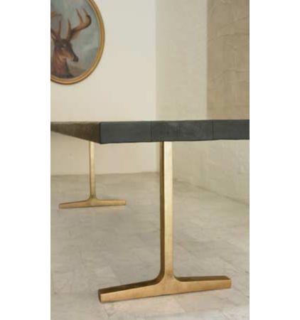 brass trestle table base kitchen island oak plans