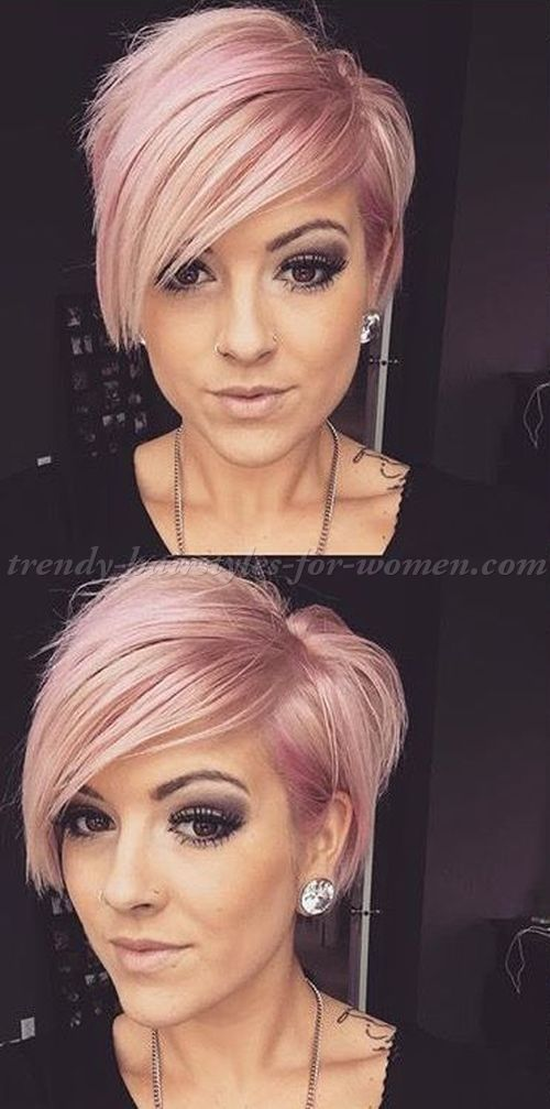Short Hairstyles With Long Bangs Fascinating Shorthairstyleswithlongbangsshortasymmetricalhaircut  Cute
