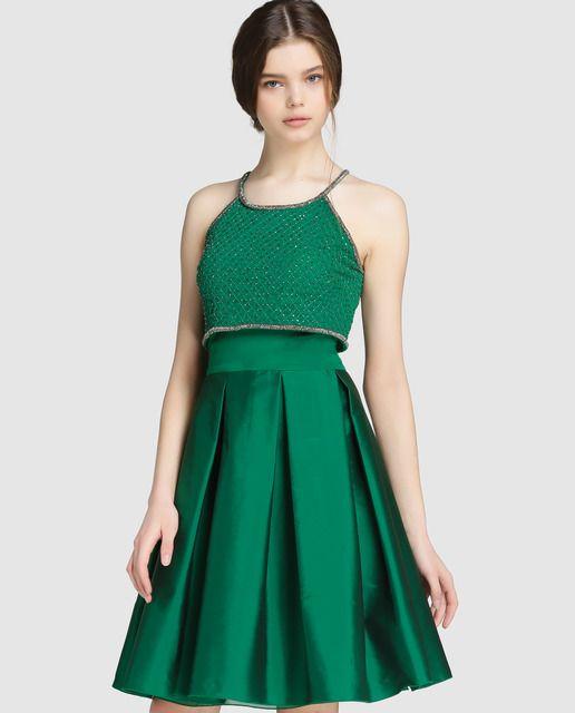 3740bc7d8 Vestido en color verde