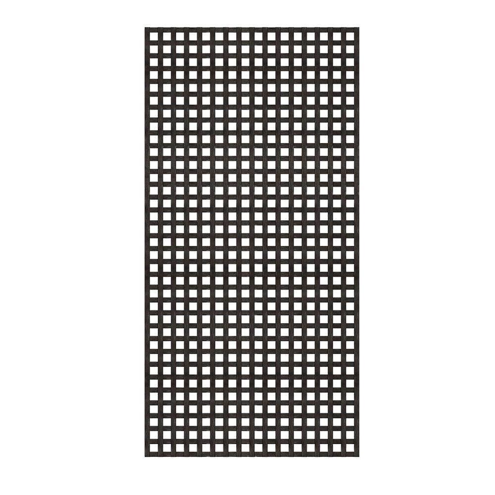 4 Ft X 8 Ft Black Privacy Square Vinyl Lattice Framed 222602 The Home Depot Plastic Lattice Vinyl Lattice Panels Lattice