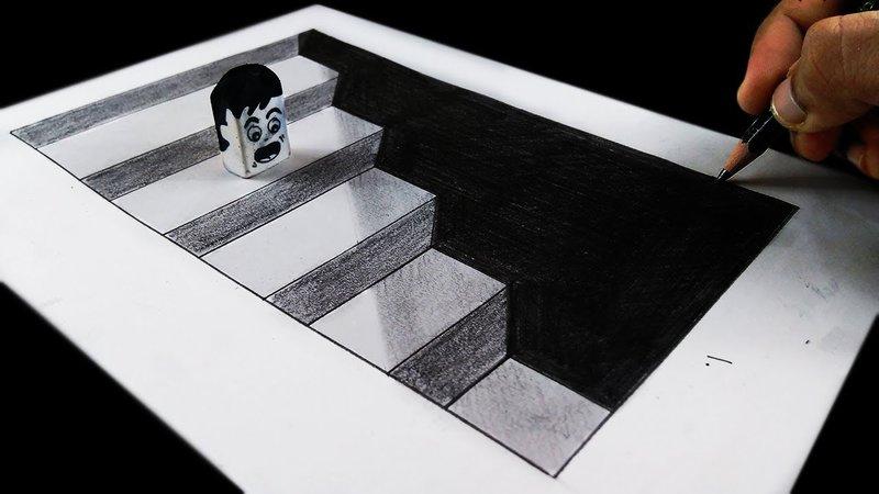 Desenho 3d Para Iniciantes Em Passo A Passo Arte No Papel