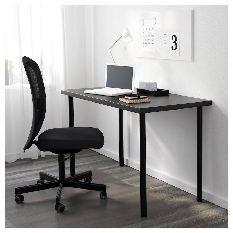 Linnmon Adils Table Black Brown Black 47 1 4x23 5 8 Ikea Ikea Laptop Table Ikea Linnmon Table Top