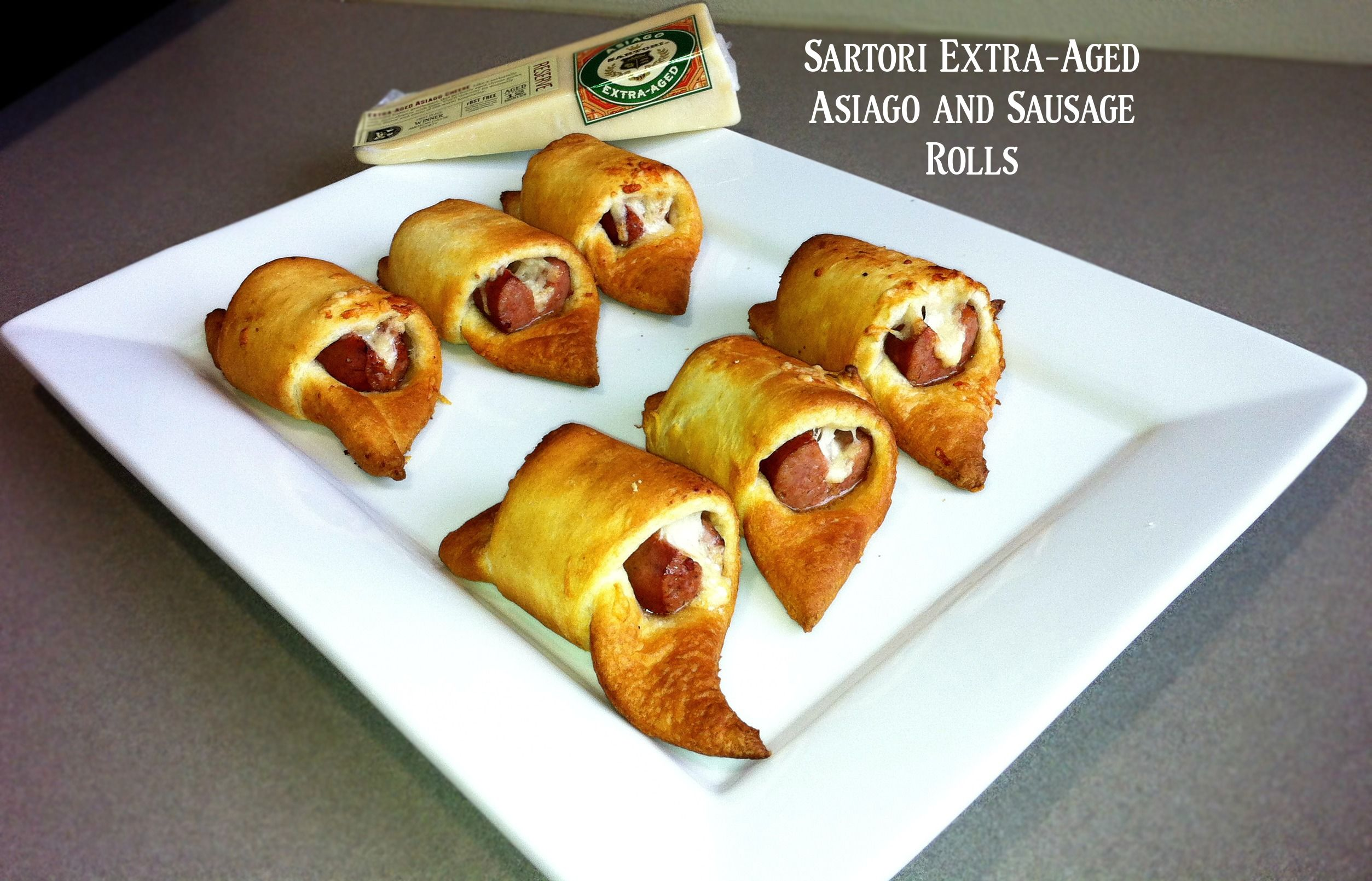 Sartori Extra-Aged Asiago cheese and Sausage Rolls are the perfect bite-size snacks! http://www.facebook.com/photo.php?fbid=405755722850245=pb.109174855841668.-2207520000.1364392725=3