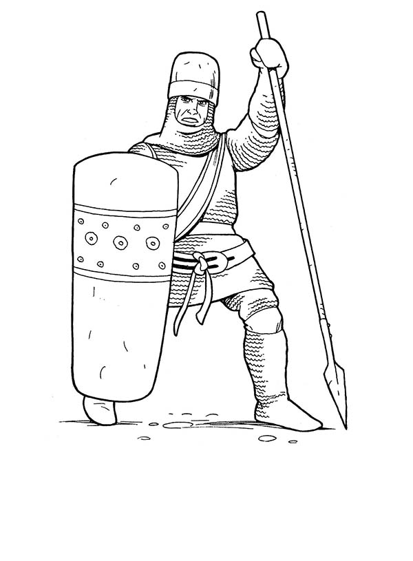 soldiers and knights in armor of god coloring page