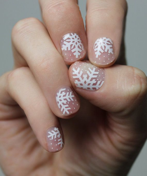 Snowflake Transparent Nail Wraps by SoGloss on Etsy | Mmm Nails ...