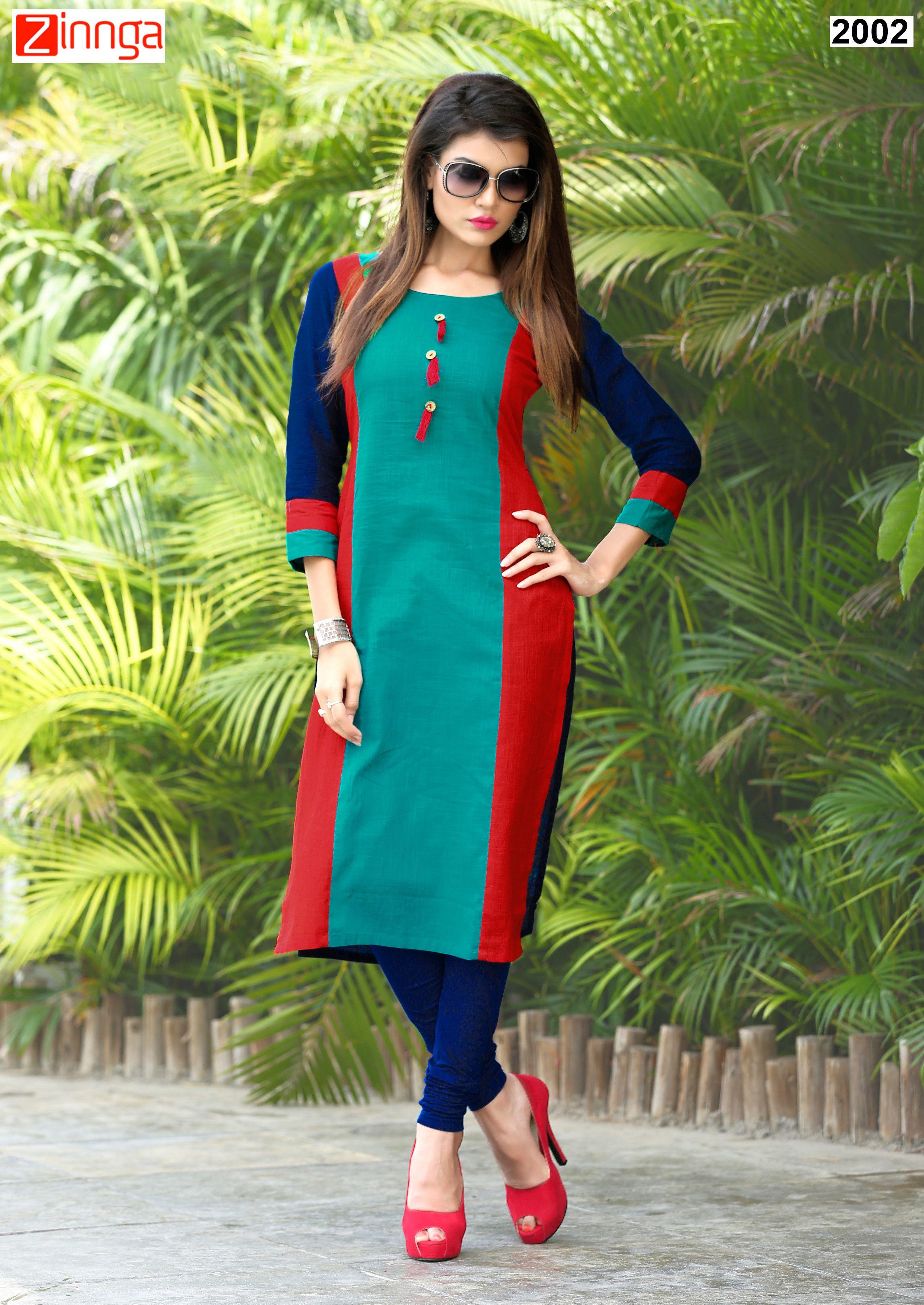 66adf6f08b Multi Color Slub Cotton Kurti #kurti #kurtis #fashion #zinngafashion  #latest #new #goodlook #goodlooking #trend #nicelook