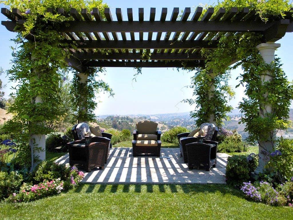 DISENO DE PERGOLAS PARA JARDIN | Gardens & porch | Pinterest ...