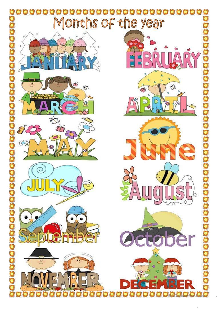 Months Of The Year Kindergarten Worksheets