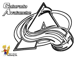 Hockey Coloring Sheets Colorado Avalanche Color Or Doodle Hockey