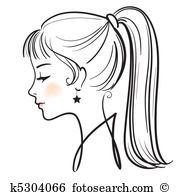 Mulher Bonita Rosto Vetorial Ilustracao Clipart Em 2020