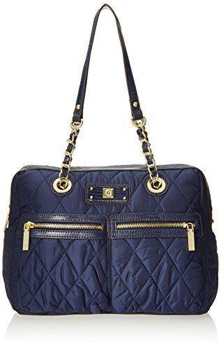 c0a681dd04 Anne Klein Zip Line Duffle Top Handle Bag   Designer Bags   Bags ...