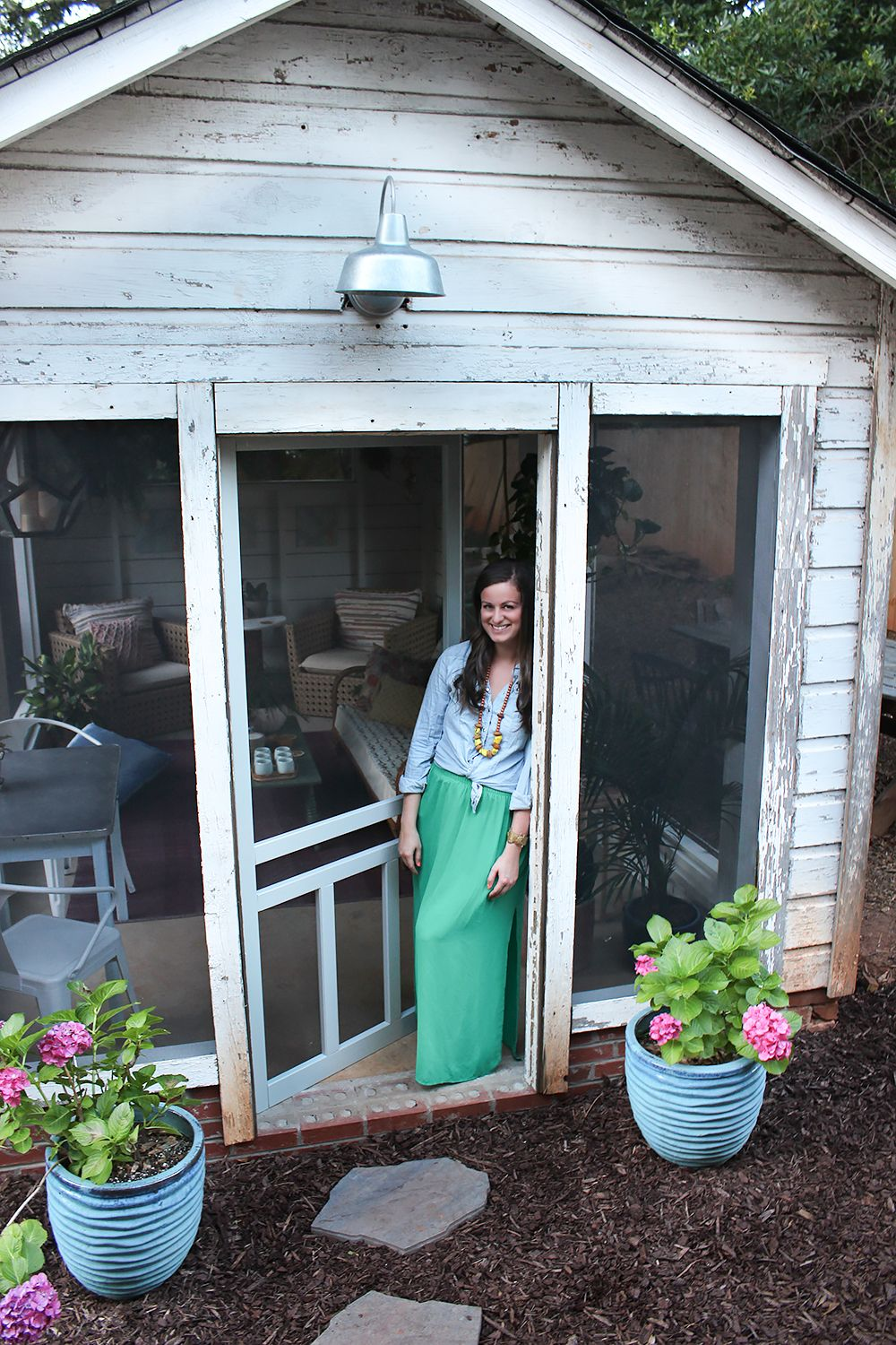 shed turned boho screened porch screened porches modern