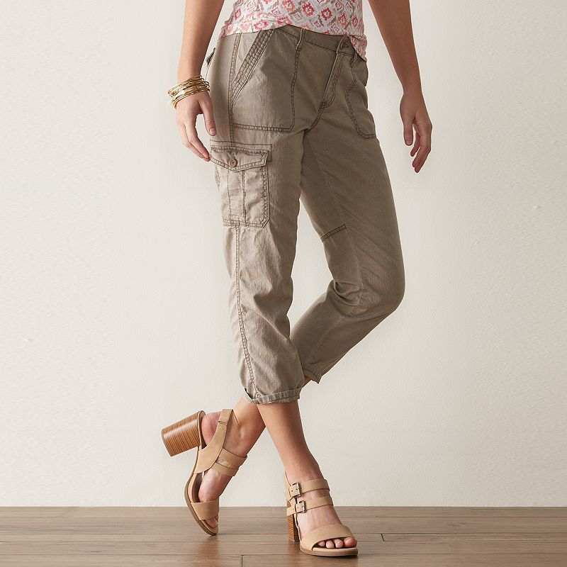 1be68e1b Women's SONOMA Goods for Life™ Cuffed Cargo Capris | Products ...