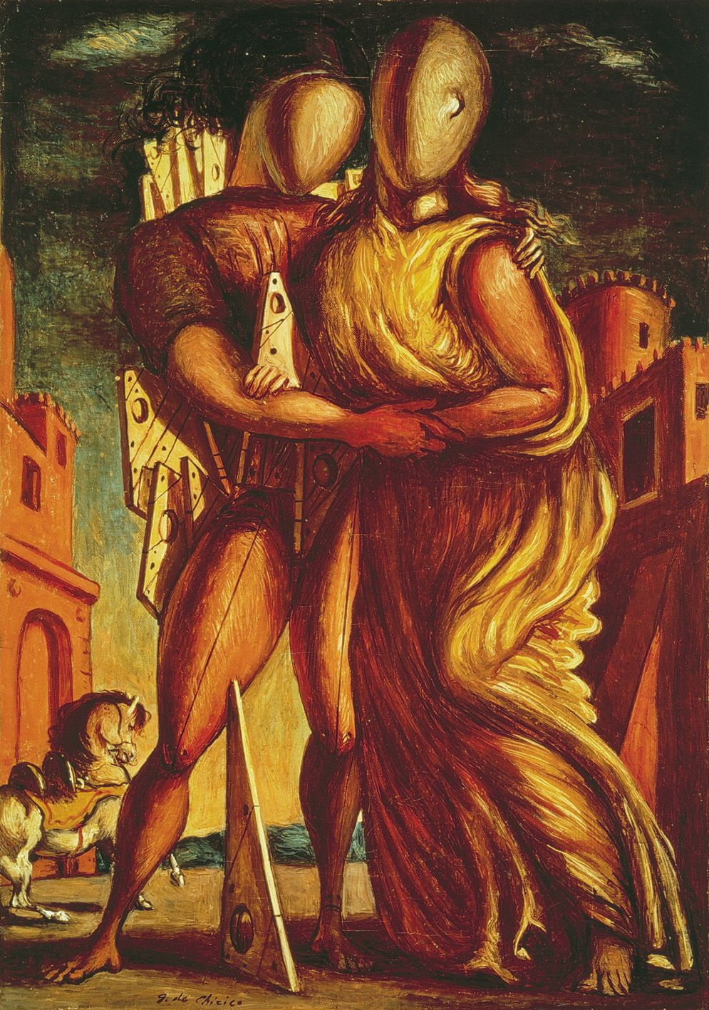 Giorgio De Chirico's Ettore e Andromaca (1935) ...something about this image captured my imagination when I was young, and I'm still captivated by it.