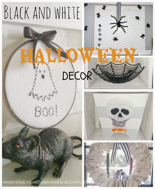 Home Heart and Hands: Cheap and Easy Black and White Halloween Decorations