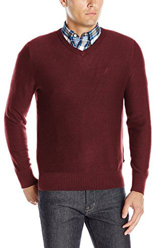 Nautica Men s Classic V-Neck Sweater 86d4a5663