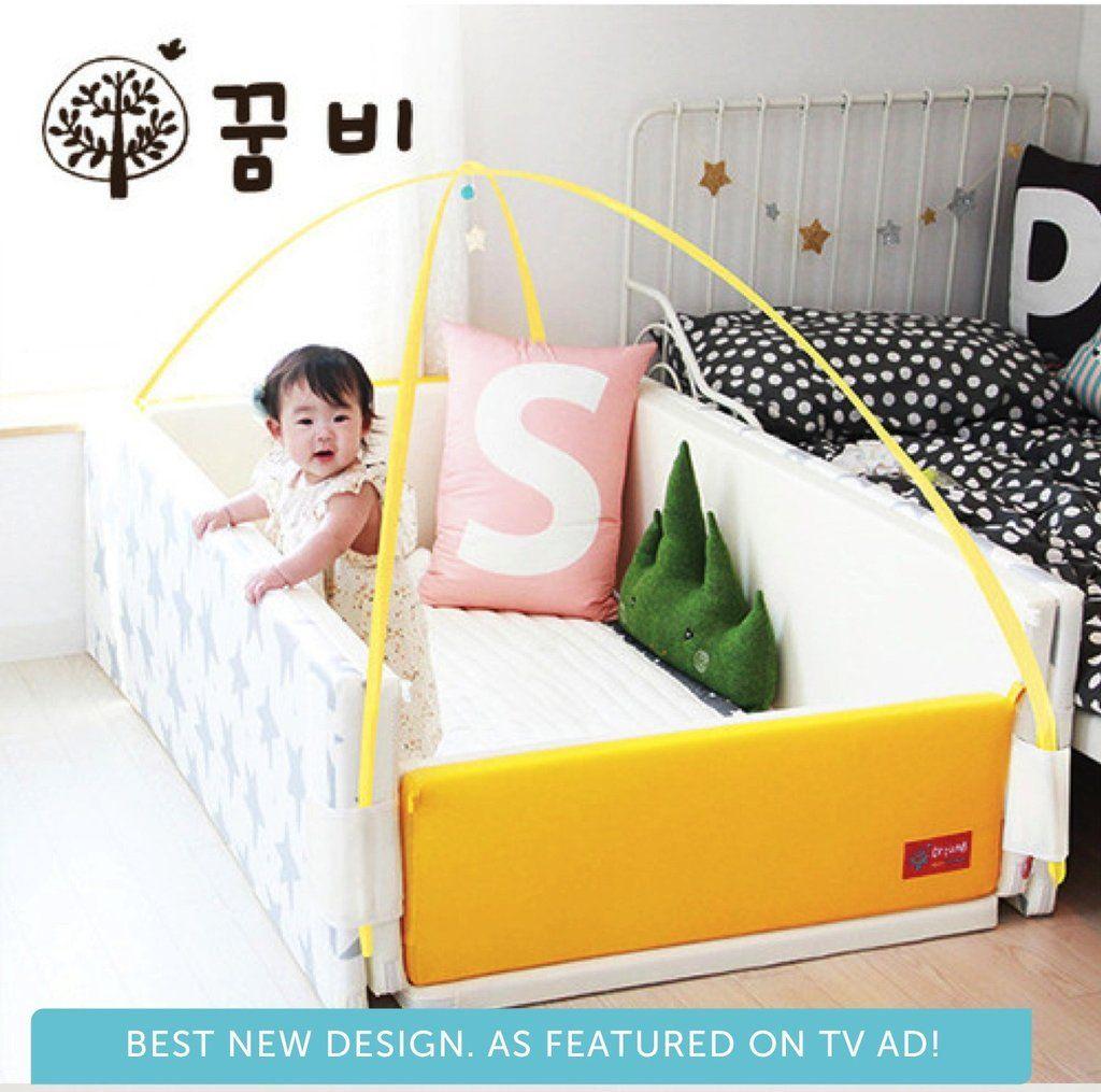 Ggumbi Bumper Bed Yellow Big Star Yellow Bedding Toddler Sofa Bed