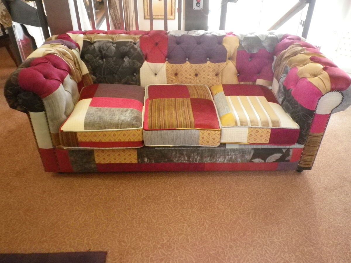 Canape Classique De Style Patchwork Traditional Chesterfield