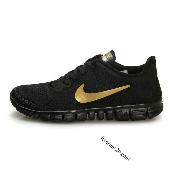 Nike Free 3.0 V2 Mens Shoes Black Gold $55.90 | Casual