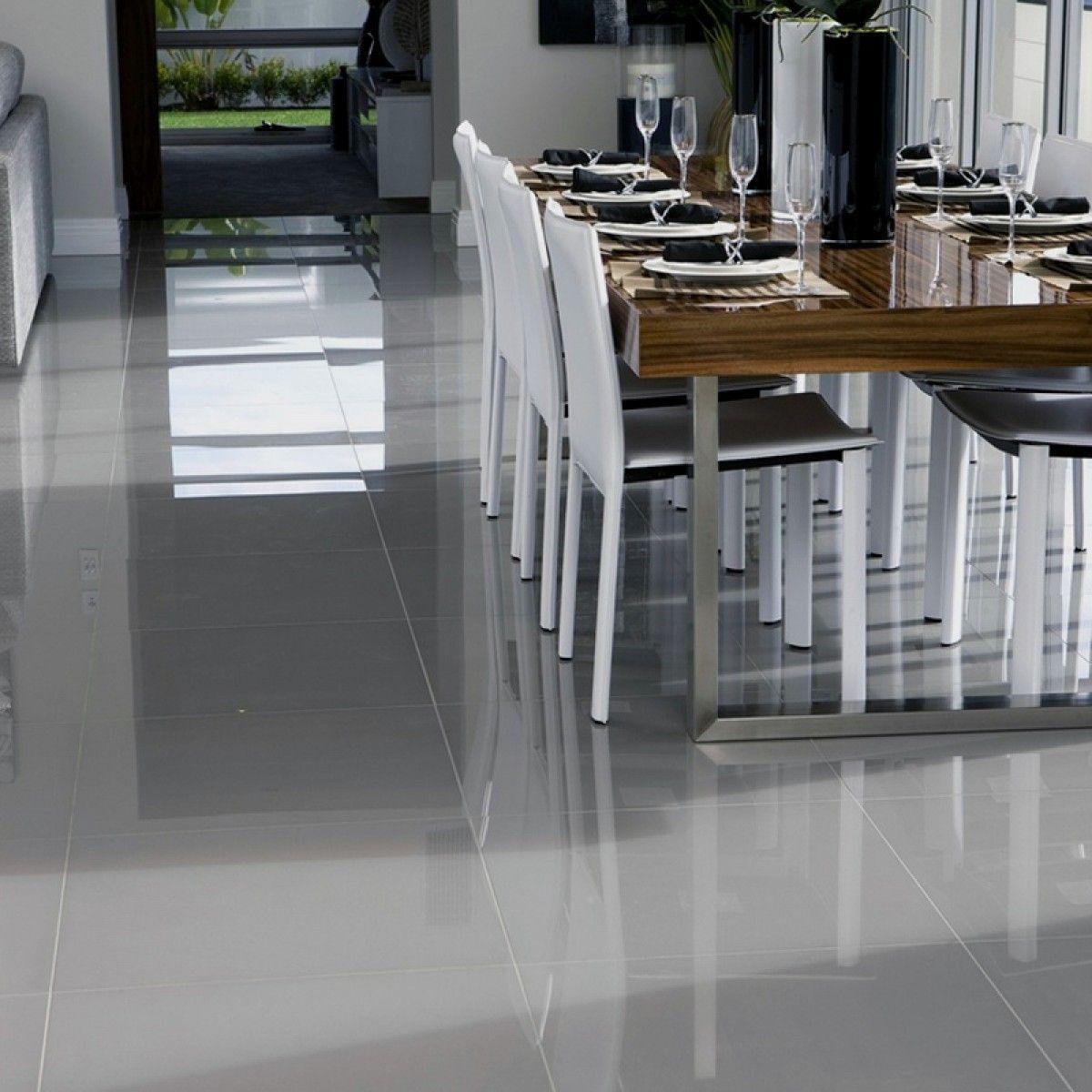 New Super Polished Grey Porcelain 600mm X 600mm Floor Tile