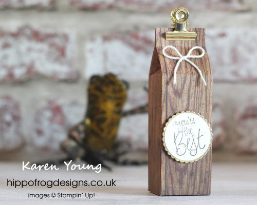 You're the best with Wood Textures DSP | Stampin up 2 | Wood texture