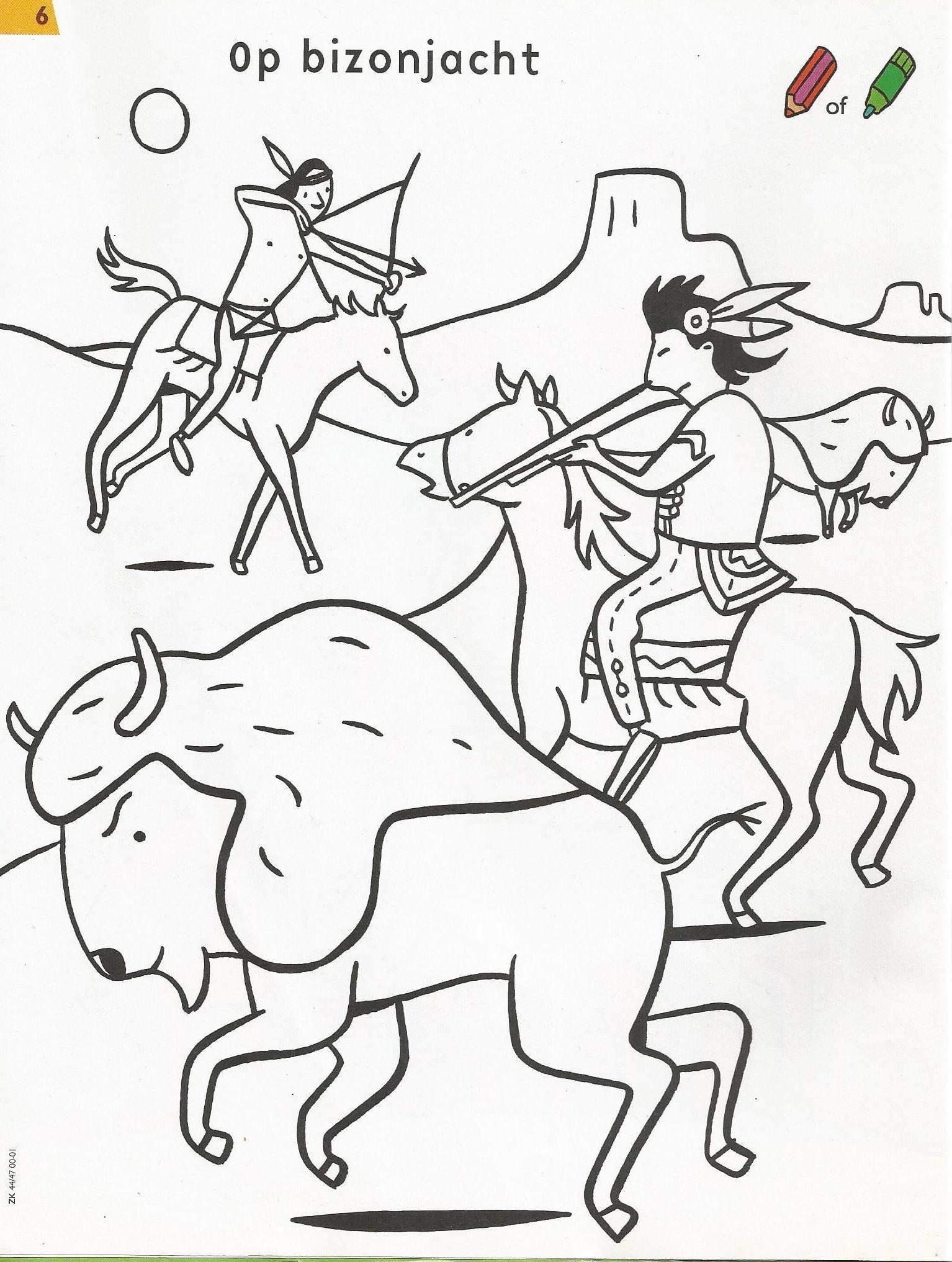 kleurplaat indiaan indian crafts sketches