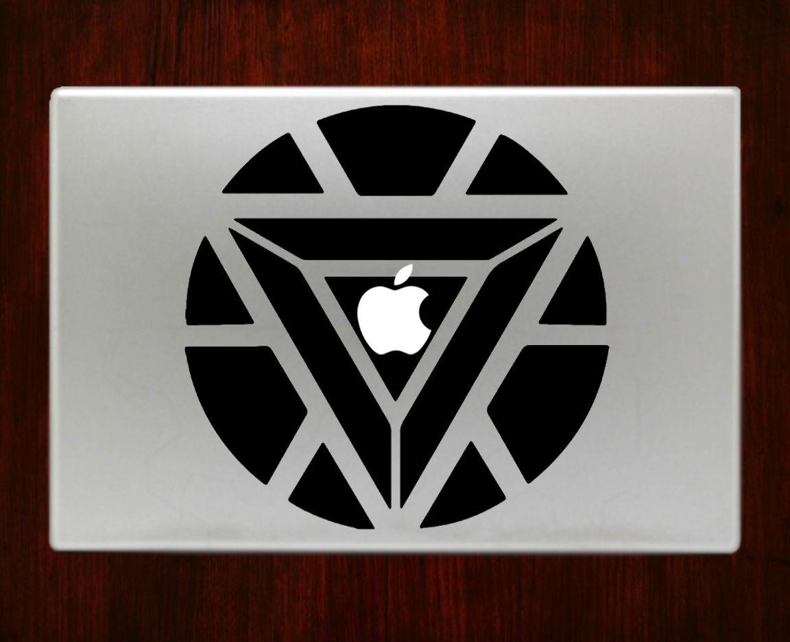 Favori Iron Man Arc Reactor Symbol Decal Sticker Vinyl For Macbook Pro  WO25