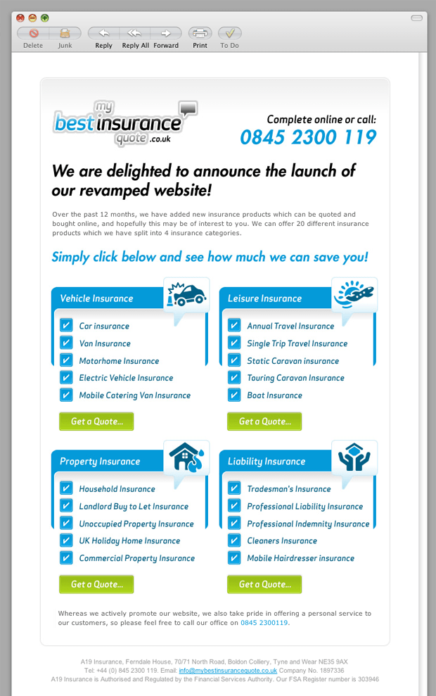 My Best Insurance Quote Email Template  Email Inspiration