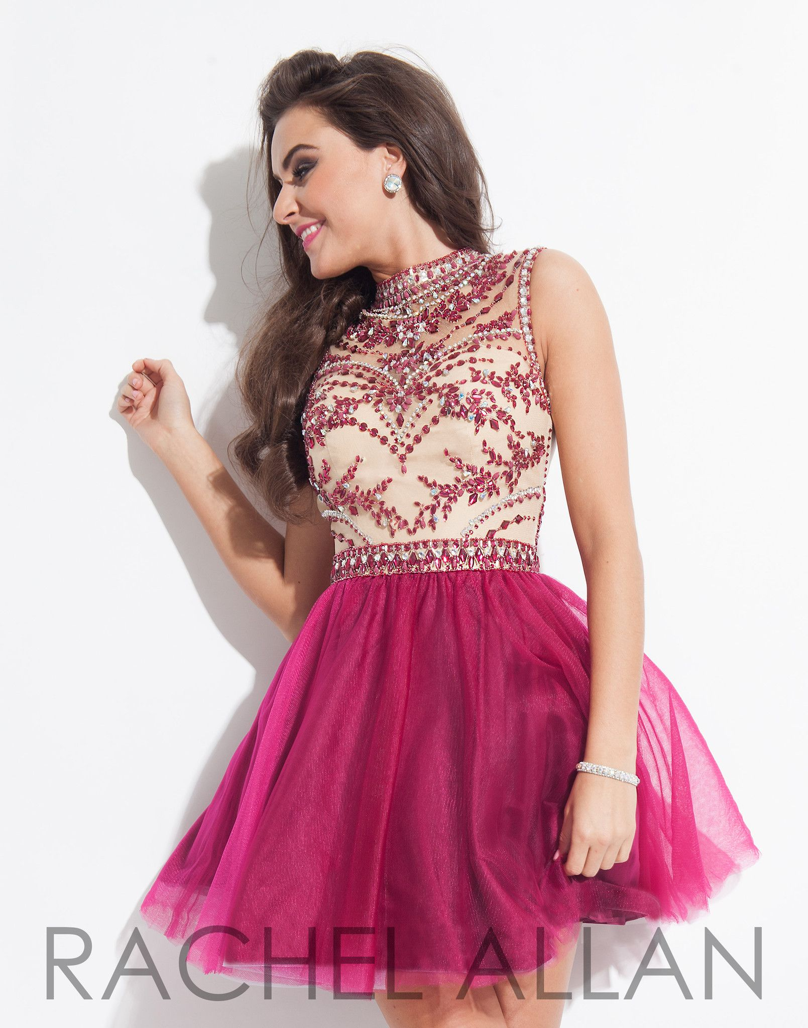 pink lint with black dress