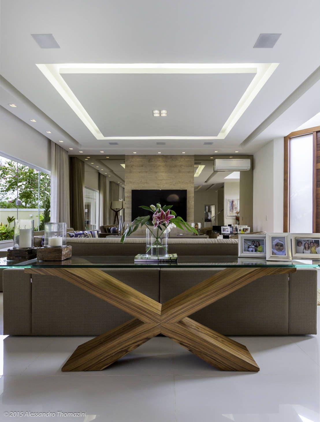 Espelho Bronze Sof Escuro Aparador Madeira Rocio Pinterest  -> Medidas De Una Sala De Tv