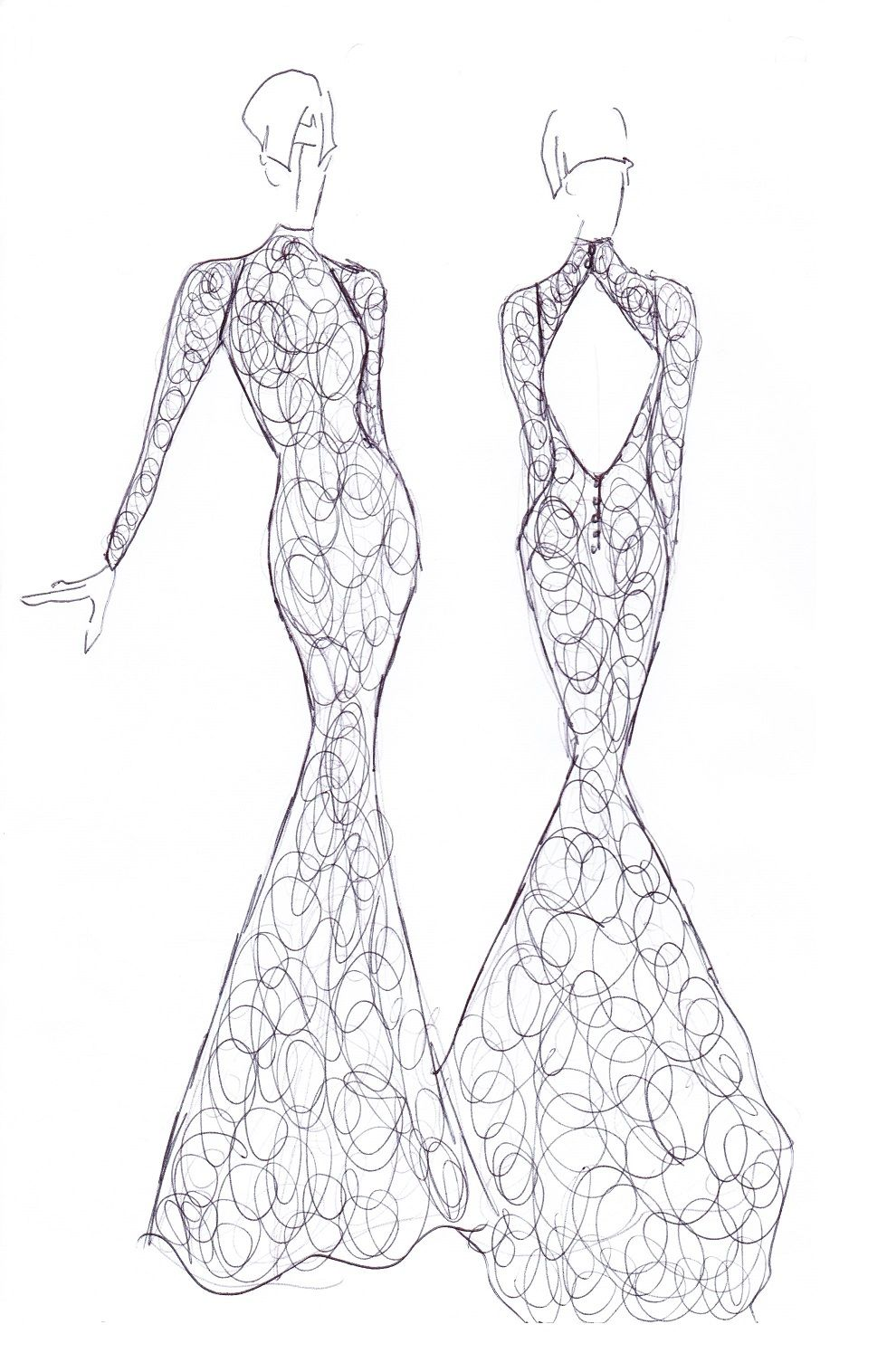 sheath lace long sleeve keyhole back high neckline wedding