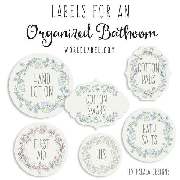 These Fabulous Labels To Help You Organize Your Bath And