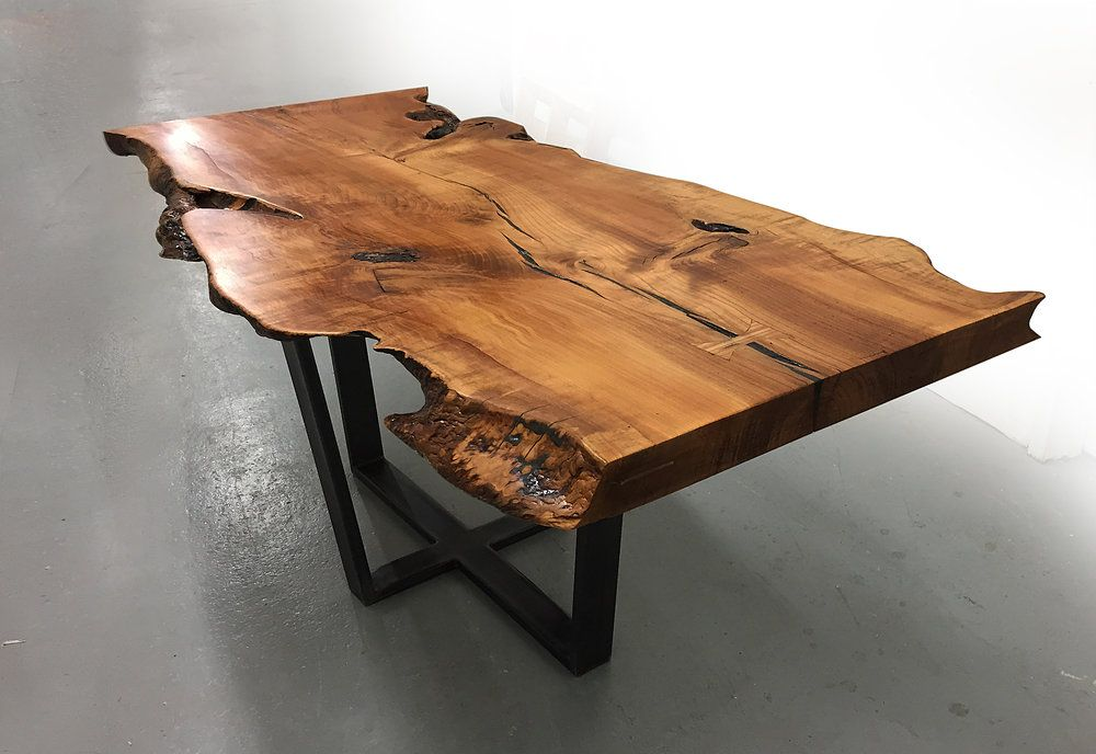 Dining Table Furniture Made From Reclaimed Wood Fallen Trees Salvage Art Recycled