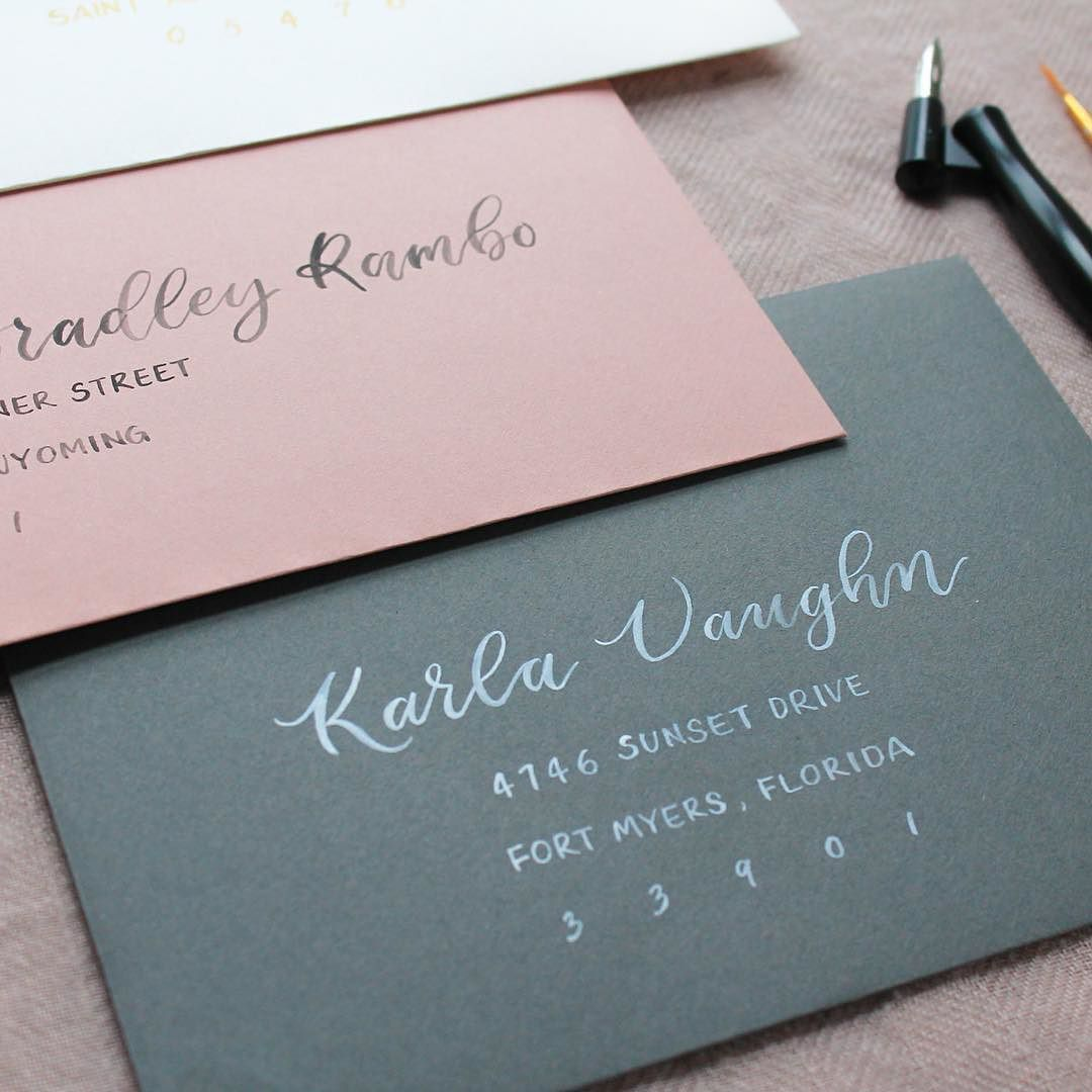 how to return address wedding envelopes%0A I understand that hiring a calligrapher to hand address your wedding  envelopes isn u    t an