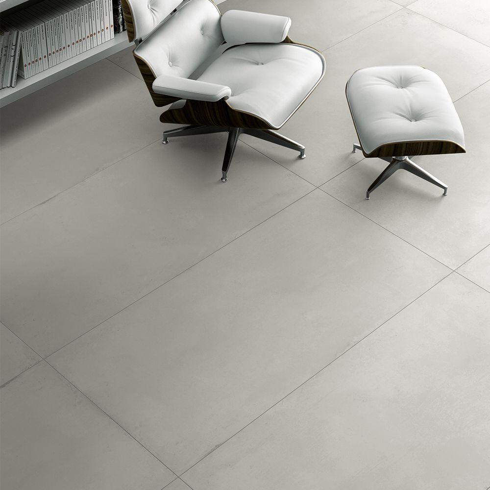 Deco Carrelage Salon Sejour carrelage intérieur effet béton usé 80x160 gris naturel